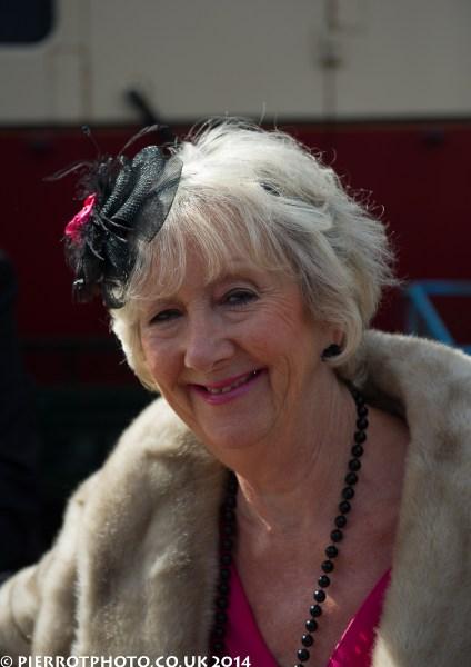 1940s weekend in Sheringham North Norfolk 2014 - woman wearing fascinator