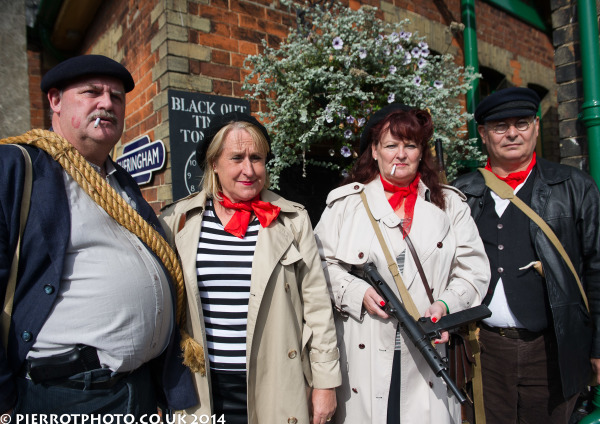 1940s weekend in Sheringham North Norfolk 2014 - French resistance