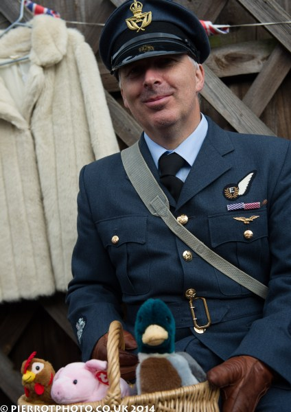 1940s weekend in Sheringham North Norfolk 2014 - RAF officer with toys!