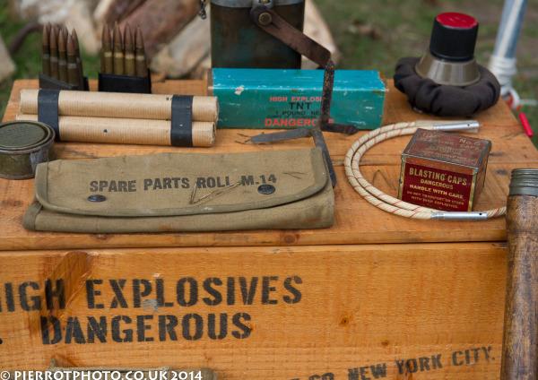 1940s weekend in Sheringham North Norfolk 2014 - explosive ordnance