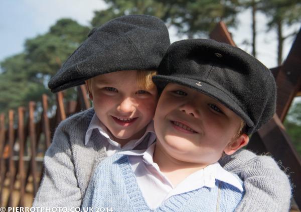1940s weekend in Sheringham North Norfolk 2014 - evacuee brothers