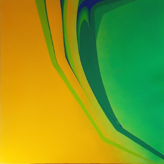 L-System Fragment 01 - abstract painting by Wigan Artist Piers Bishop
