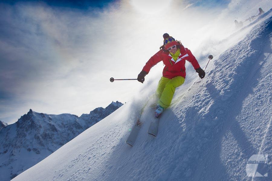 Photo de ski pour catalogue Columbia Europe