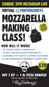 Virtual Mozzarella Making Class