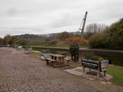 Wharf on the Trent and Mersey canal