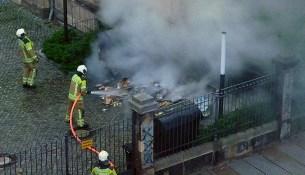 Mülltonnenbrand Gemeinschaftsschule