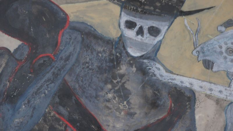 Gemälde-Ausschnitt: Morbide Motive verhandeln die Zerbrechlichkeit des Lebens.