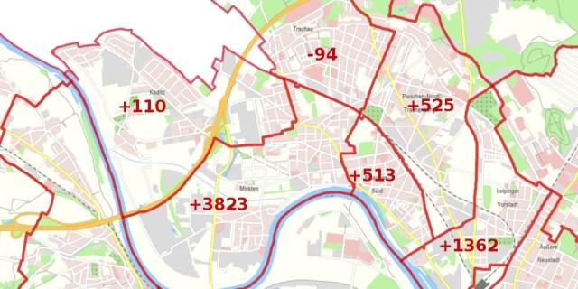 bevölkerungsprognose pieschen karte