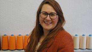 Stephanie Oppitz produziert in ihren Manufkaturen Stoffwindeln und Damenhygieneartikel