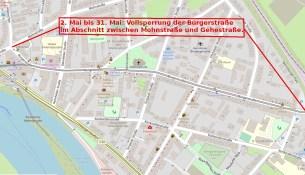 Drewag Bürgerstrasse Vollsperrung