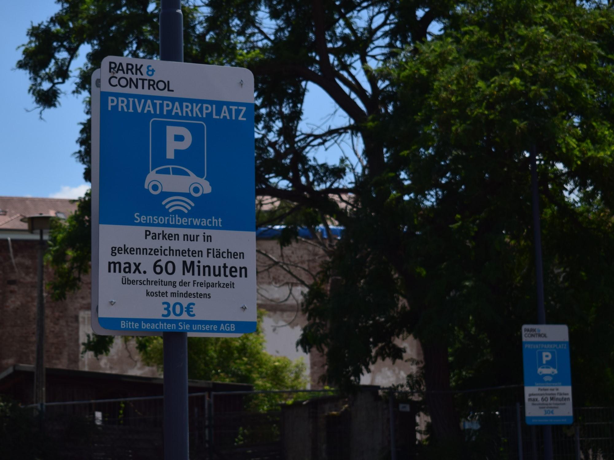 lidl parkplatz schilder