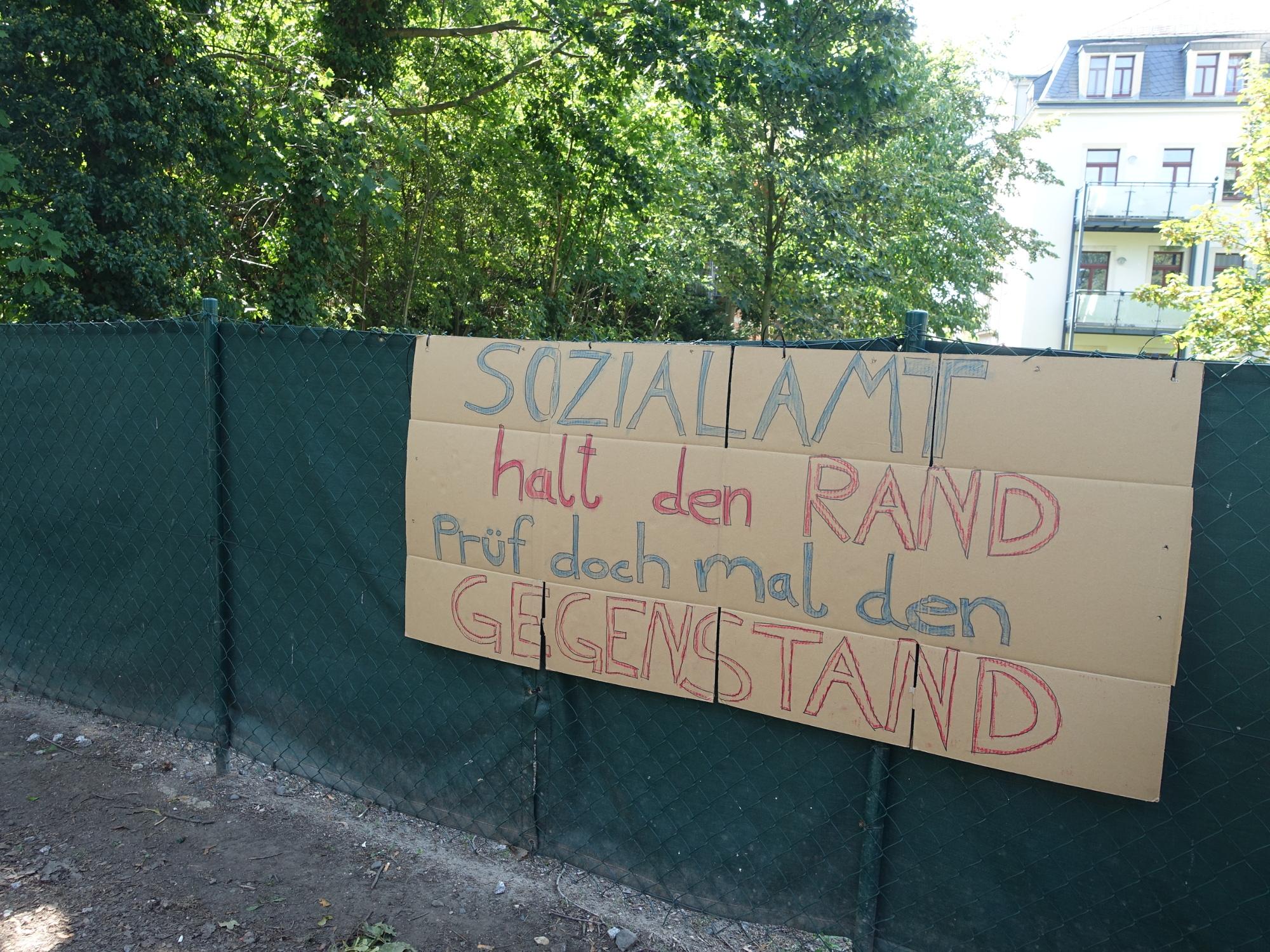 Hubertusstrasse Protestplakat