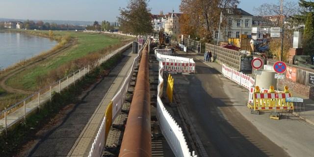 Stadtentwässerung Kötzschenbroder Straße April