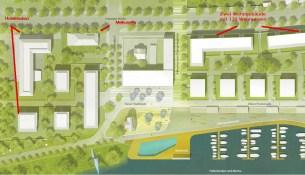 Hafencity Lageplan Fertig im Bau geplant