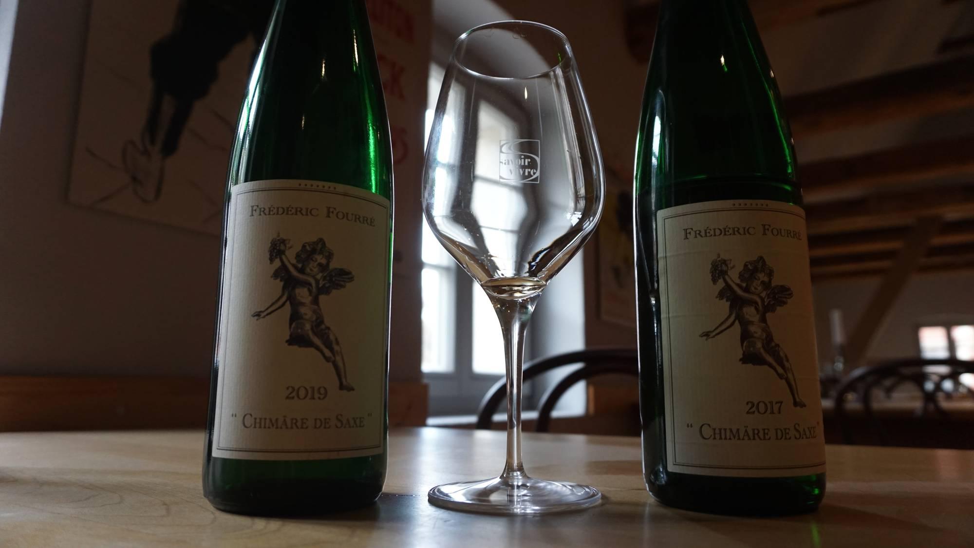 Der Chimäre de Saxe von 2017 beinhaltet die selben Rebsorten wie der von 2019, schmeckt aber viel reifer. Foto: Elisabeth Renneberg
