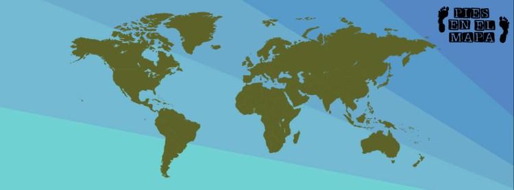 Mapa del mundo fondo claro