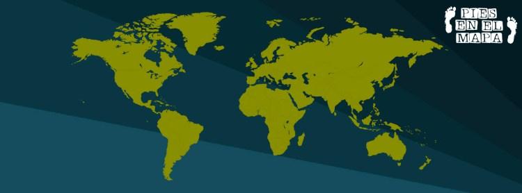 Mapa del mundo fondo oscuro
