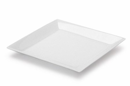 Valkoinen lautanen.