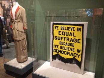 Women's suffrage display