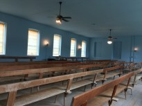 Congregants were segregated, with separate entrances and benches for women and men