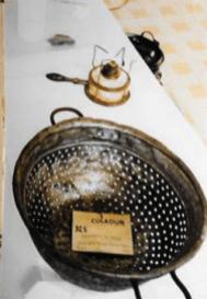 materiale etnografico, scolapasta