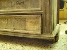 degrado del legno esposto ad umidità elevata.