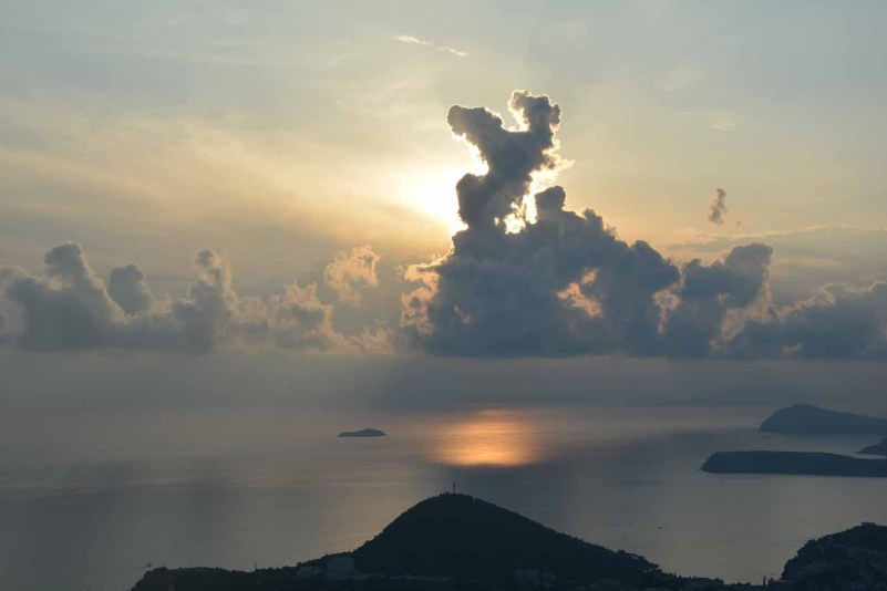 cosa fare e vedere a dubrovnik in un giorno tramonto monte srd