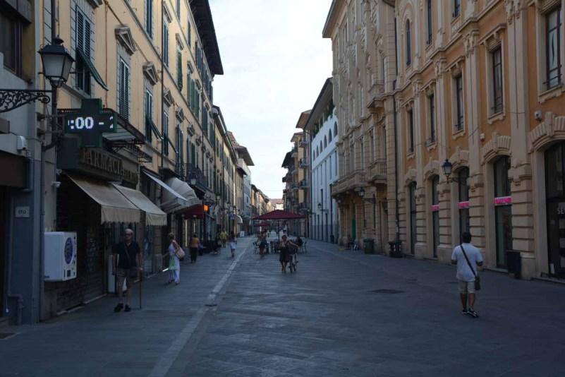 itinerario di un giorno a pisa corso italia