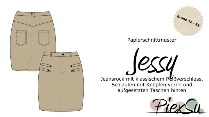Papierschnittmuster Jeansrock Jessy inkl. eBook