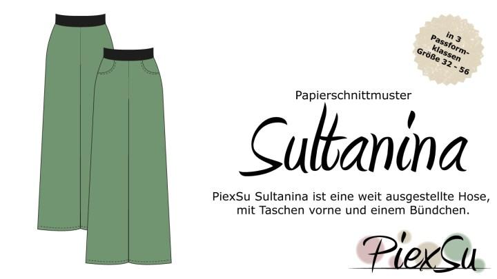 Papierschnittmuster PiexSu Sultanina