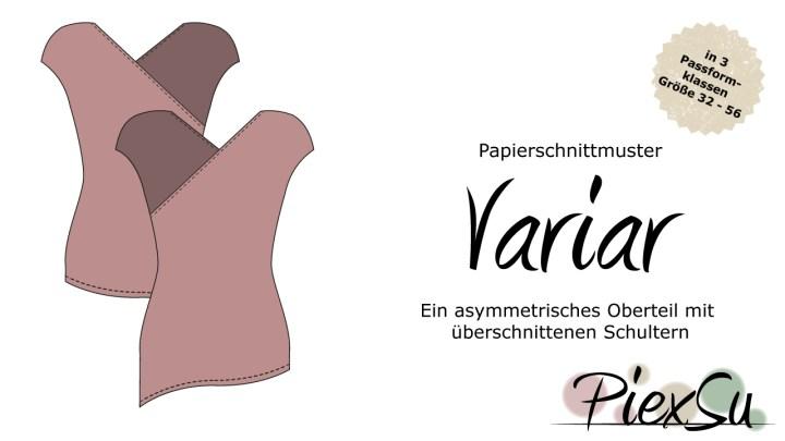 Papierschnittmuster PiexSu Variar inkl. eBook