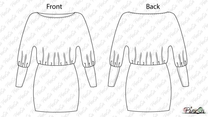 Papierschnittmuster Kleid Aria inkl. eBook