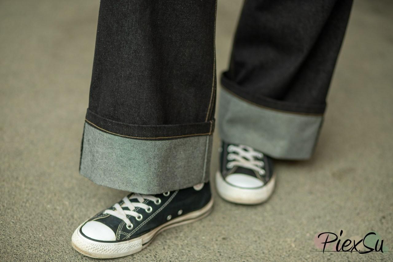 PiexSu Jeans nähen Jeanhose Kappnaht Hosentasche Nähanleitung -8815