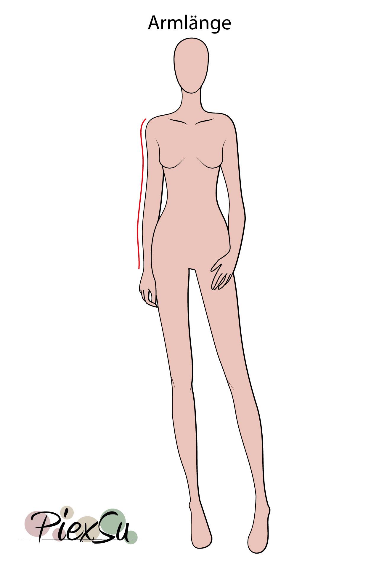 PiexSu-richtig-Maßnehmen-Maße-Schnittmuster-nähen-Schnittmuster-anpassen-messen-Maßband-Armlänge