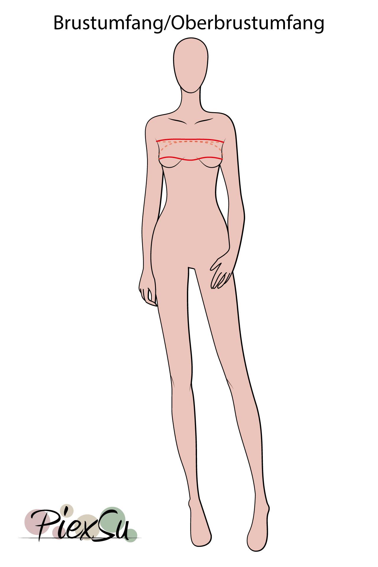 PiexSu-richtig-Maßnehmen-Maße-Schnittmuster-nähen-Schnittmuster-anpassen-messen-Maßband-Brustumfang-Oberbrustumfang
