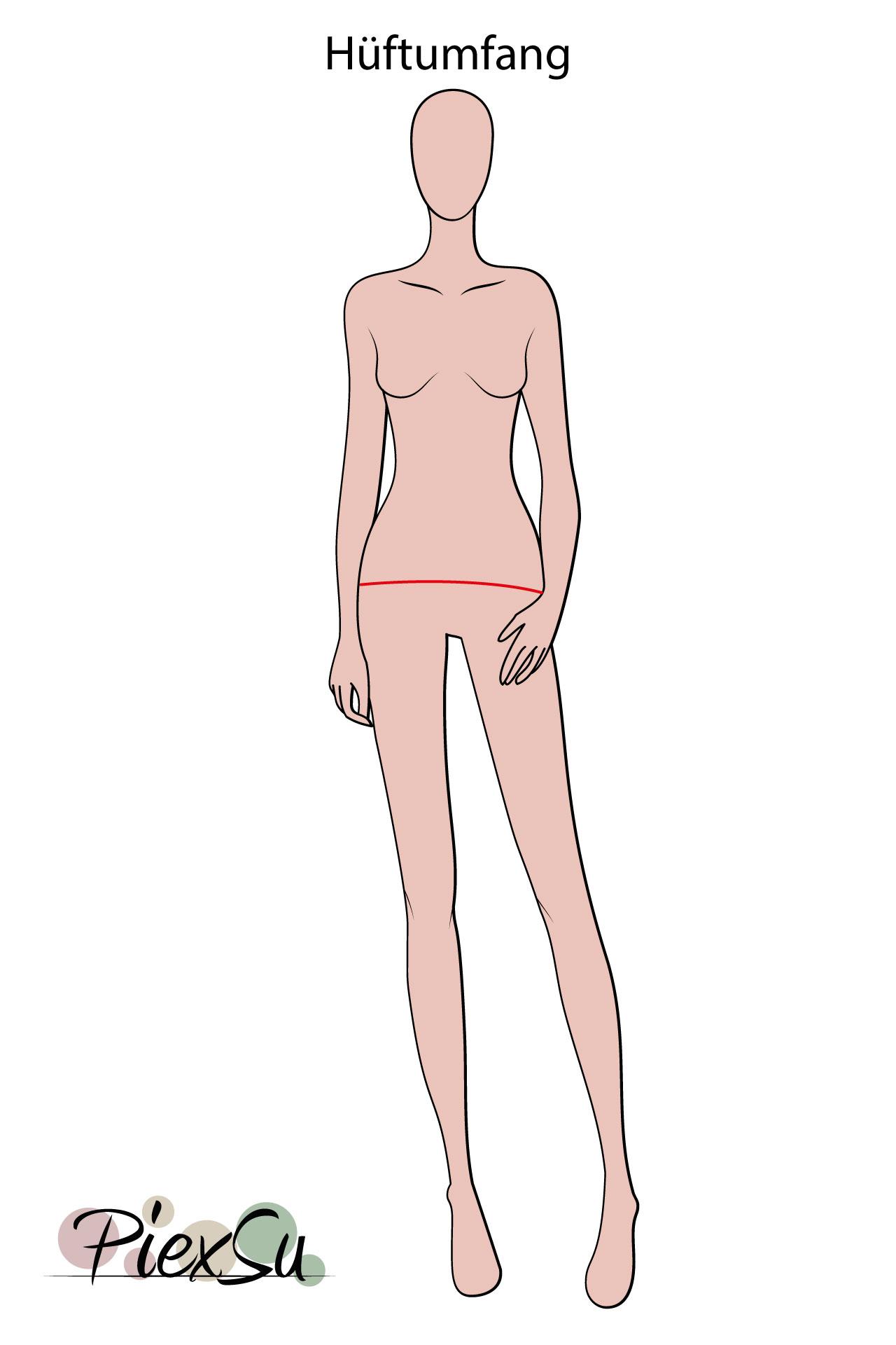 PiexSu-richtig-Maßnehmen-Maße-Schnittmuster-nähen-Schnittmuster-anpassen-messen-Maßband-Hüftumfang