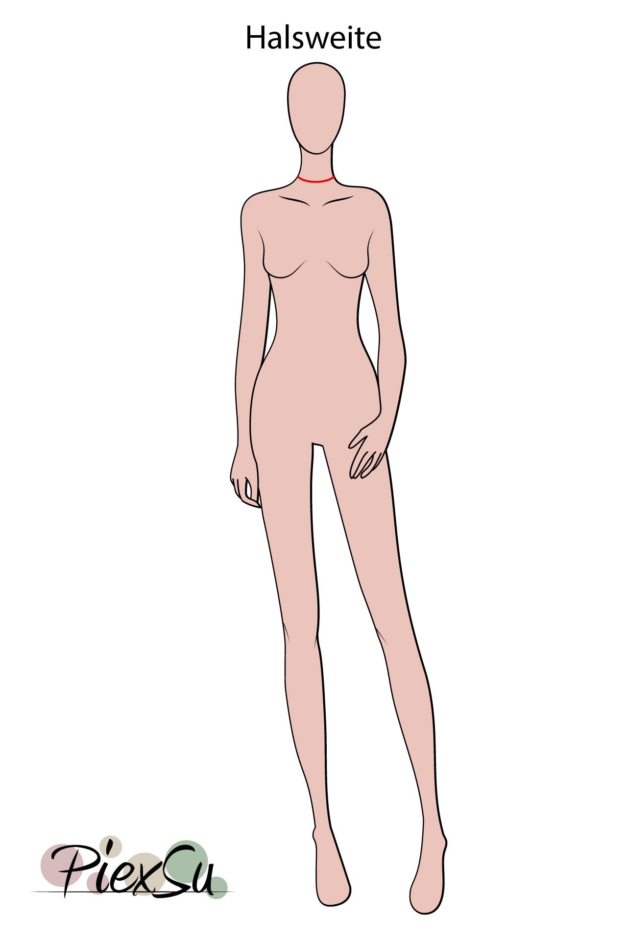 PiexSu-richtig-Maßnehmen-Maße-Schnittmuster-nähen-Schnittmuster-anpassen-messen-Maßband-Halsweite