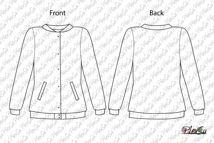 PiexSu-Schnittmuster-Collage-Jacke-Scola-Damen-Sweat-Jacke-Jersey-collagejacke-nähen-eBook-Nähanleitung