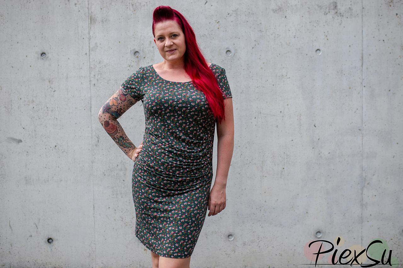 Schnittmuster PiexSu Faudas Kleid nähen Jerseykleid Faltenkleid nähanleitung (23)