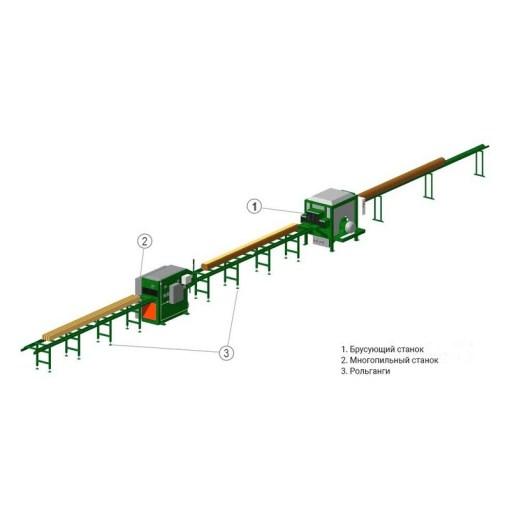 Линия для распиловки тонкомера 3