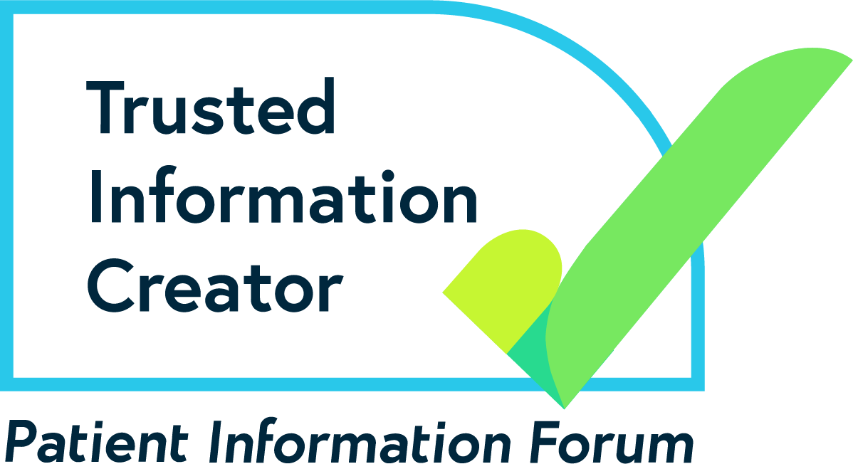 The PIF TICK logo. Text reads Trusted Information Creator. Patient Information Forum.