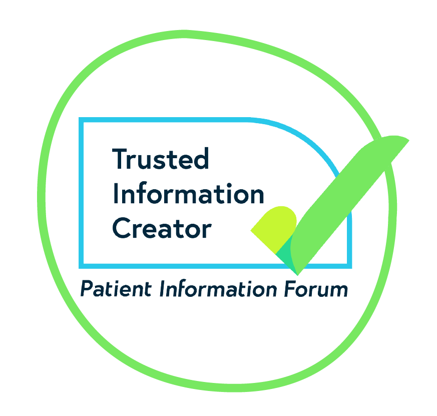 Bubble with PIF TICK logo inside. Looking for the PIF TICK is one way to find trusted health information.