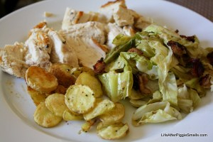Chicken with Potatoes, Bacon, & Cabbage