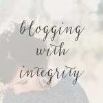 Blogging with Integrity