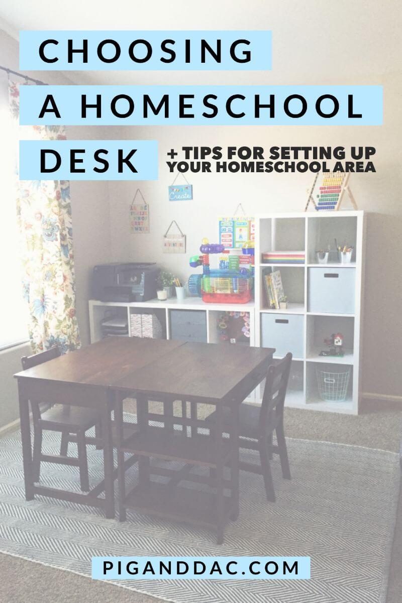 homeschool desk