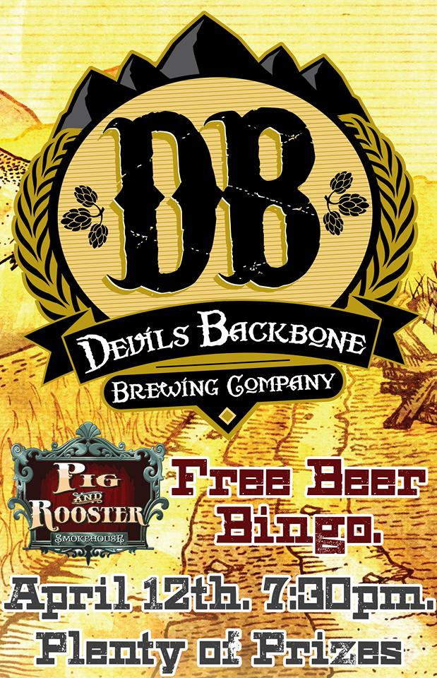 Beer Bingo with Devils Backbone