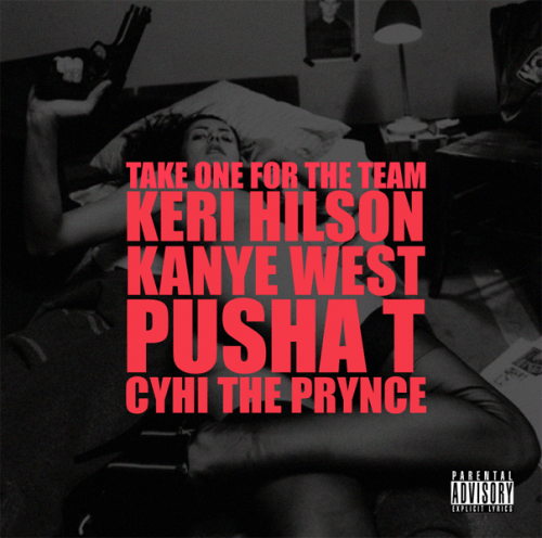 take one for the team 500x496 Kanye West ft. Keri Hilson, Pusha T, Cyhi Da Prynce   Take One For The Team