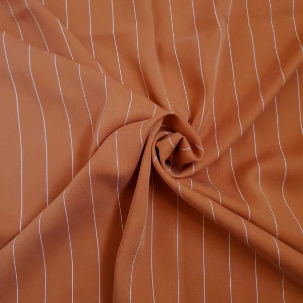 Tencel Thin White Stripe #5 Light Rust148 165