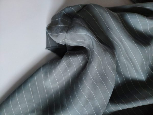 Cupro Stripe #3 Grey140 118