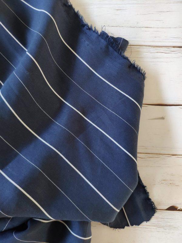Tencel Wide Thin Stripe Navy147 175